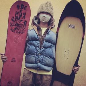 snow surfing! GENTEMSTICK