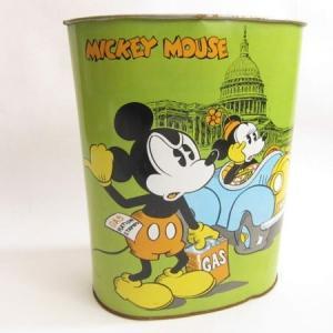 ミッキーマウス ダストボックス・ネイティブ柄ウールタペストリー