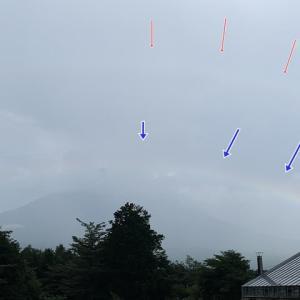 富士山と2重の虹