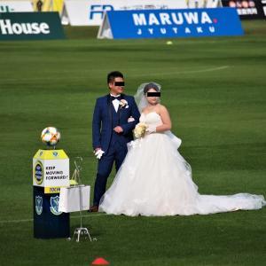 グリスタに結婚式見に行ってきました。サッカーなんて見てません!(#^ω^)
