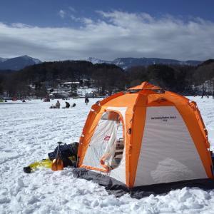 氷上ワカサギ釣り(松原湖)2日目