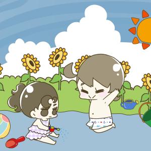 【夏休み育児ハック】夏といえばプール!お家で簡単プールで子どもの体力を奪え!