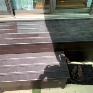181))我が家の洗濯物を干す場所はガーデン収納アルミ踏み台!!ストッカー「縁側」「ベランダ台」「踏み台」「ステップ」