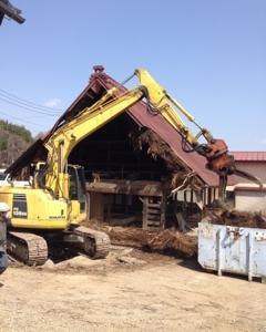 北杜市で築200年の古民家が解体となりました。