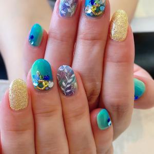 summer nail(^^)