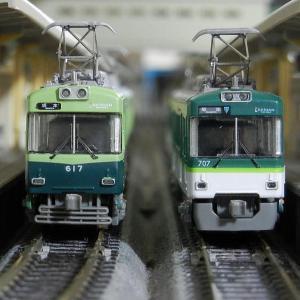 鉄コレ京阪大津線(石山坂本線)600形と700形レイアウト走行4