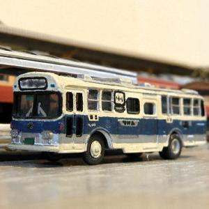 三菱ふそうから富士重車体日産UDに改造したTOMIX製バス