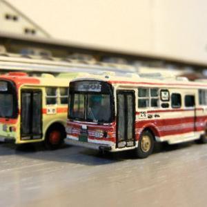 三菱ふそうバスを富士重工5Eに改造したTOMIX製バス