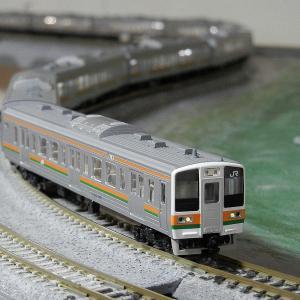 TOMIX製初期211系1000番台マイレイアウト走行