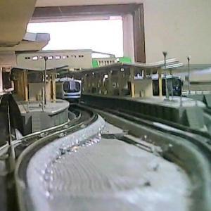 超小型カメラでNゲージ前面展望と車窓ビュー