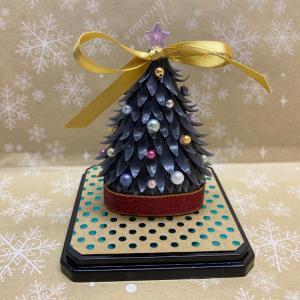 体験レッスン課題のご紹介☆ブラッククリスマスツリー!