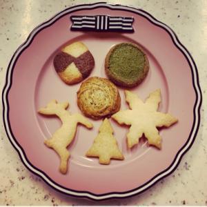 クリスマスクッキーと香川の柿