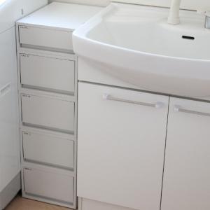セリア・サイズも見た目も完璧!洗面所で家事ラクできる仕組みができました! & ポチレポ