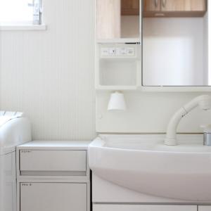 わが家の狭い洗面所。セリアと便利グッズで収納を増設!掃除も劇的ラクになりました!& ポチレポ