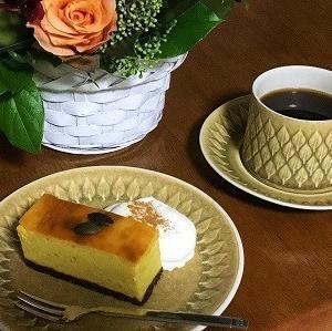 パンプキンベイクドチーズケーキと栗ごはん
