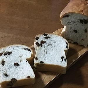 100均パウンド型でキノコ型レーズン食パン(参考レシピあり)と朝ごパン♪