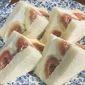 角食リベンジと無花果サンド