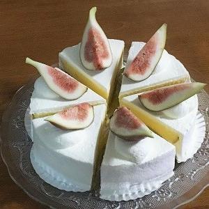 無花果のショートケーキ