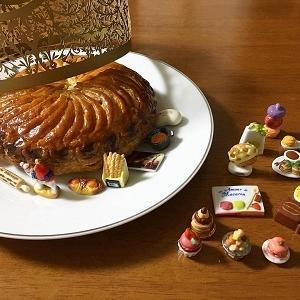 抹茶と黒豆の小さなガレット・デ・ロワ