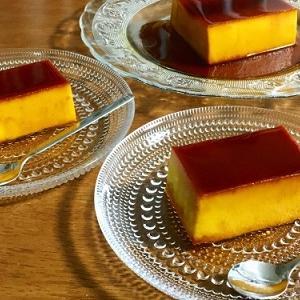 100均パウンドケーキ型でかぼちゃプリン♪