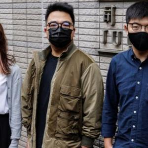 香港の著名民主派活動家3人、即日収監