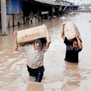 中国は、洪水で国を滅ぼす