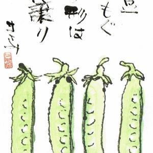 豌豆もぐ指の形は親譲り