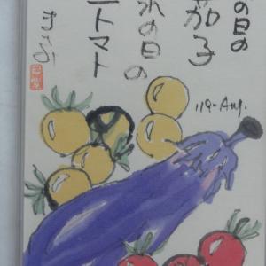 雨の日の茄子晴れの日のミニトマト