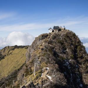 石鎚山 冬の登山(ロープウェイ) 冬季日帰りの西日本最高峰