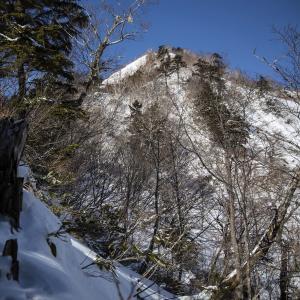 戸隠連峰バリエーションルート 積雪期の五地蔵山東尾根