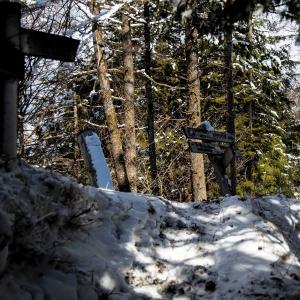 雪の武甲山 春雪の煌めきの中を登る