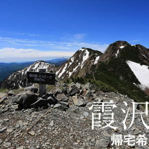 意外な花と尖った穂高が見える霞沢岳