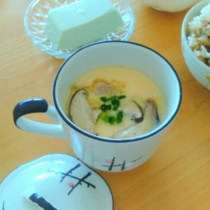 ささみの梅チーズ大葉巻き弁当とお宝レシピ茶碗蒸し