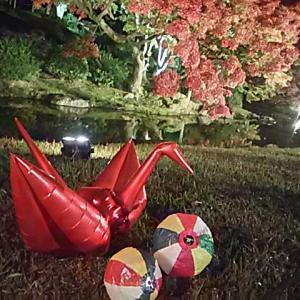 栗林公園 秋のライトアップ(*^_^*)