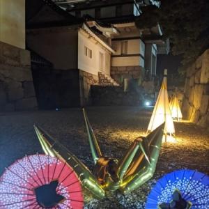 色変化(*^_^*)月見櫓 夕涼み・・玉藻公園2020.08.12