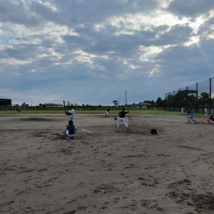 久しぶりの野球練習