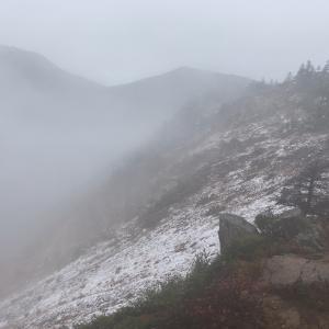雨からみぞれから雪になった東篭ノ登山・1:身体の鈍りっぷりがハンパない…