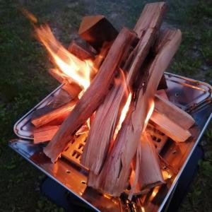 夏休み、何する?snowpeakの焚き火