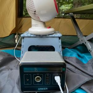 熱中症警報の中キャンプ