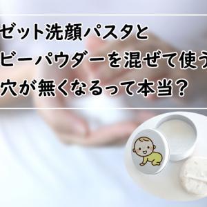 ロゼット洗顔パスタとベビーパウダーを混ぜる裏ワザって危険?【毛穴が詰まる】