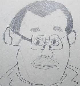 小2が描いた先生の顔 子どもの見る目の確かさ!