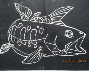 6年生の版画作品
