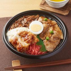 【ファミリーマート】大盛ごはん!3種の肉盛り丼