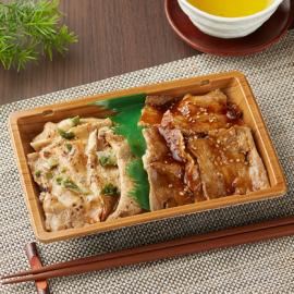 【ファミリーマート】2種の味!炙り焼三元豚のカルビ重(麦飯)