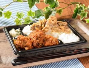 【ローソン】ピリ辛唐揚&牛焼肉弁当
