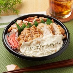 【ファミリーマート】タルだく鶏天&照焼チキン丼