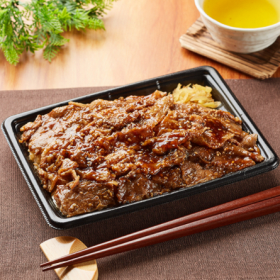 【ファミリーマートン】特製ダレの炙り焼牛カルビ重