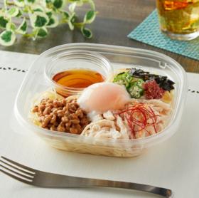 【ファミリーマート】冷たいパスタ おだしで食べる!蒸し鶏と納豆