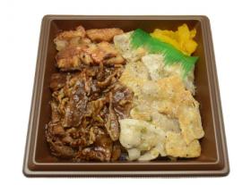 【セブンイレブン】三種の焼肉弁当(牛・豚・鶏)