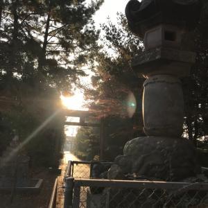 春日部八幡神社 朝